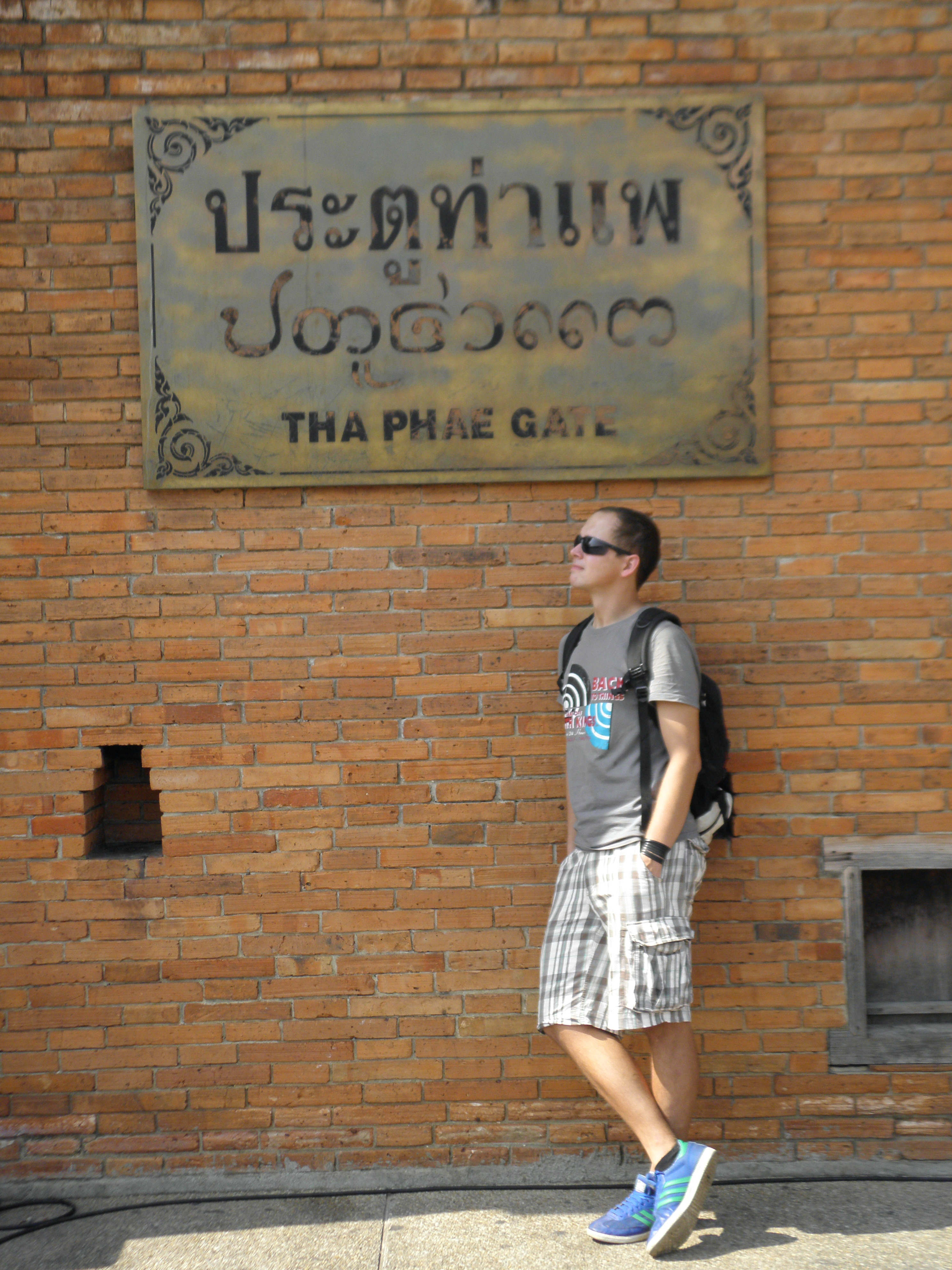 in front of Tha Pae Gate, Chiang Mai, Thailand